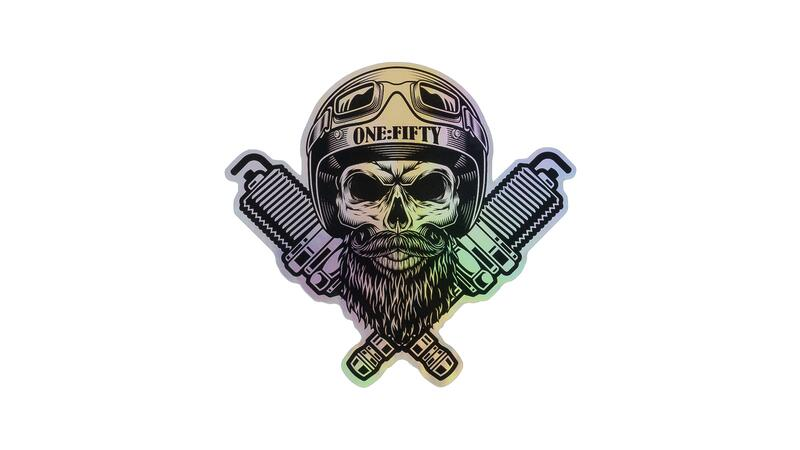 Sticker ONE:FIFTY Skull holographic